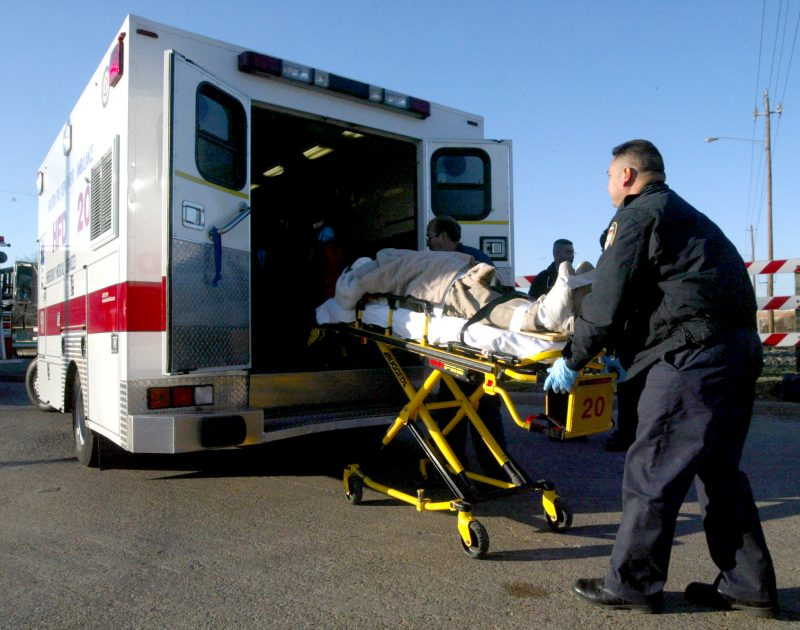 emergency medical services ambulance transporting a patient