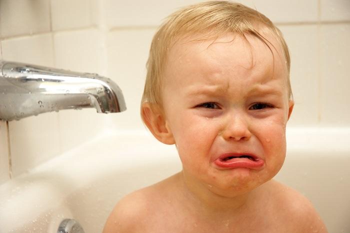 baby boy crying needing emergency pediatric care