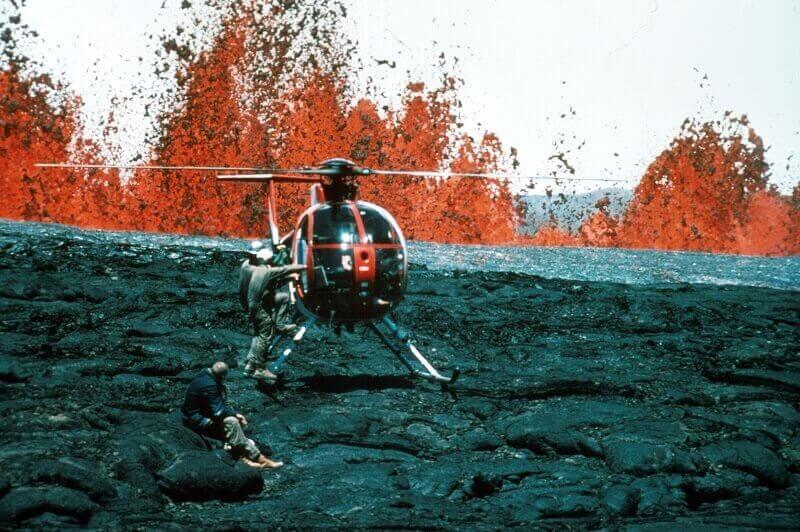 Mauna Loa shield volcanoe, one of the major types of volcanoes