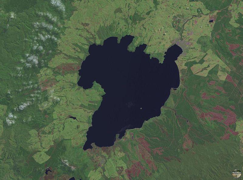 Lake Taupo satellite image