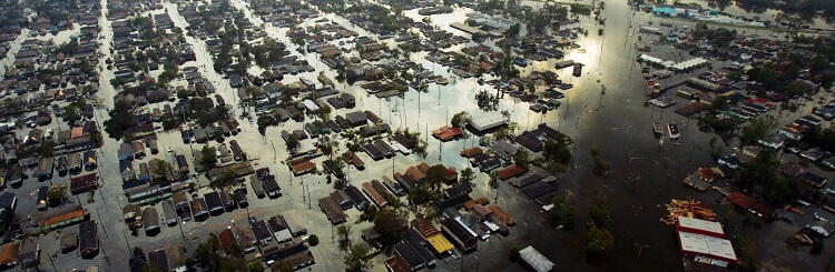 Hurricane Katrina storm surge flooding