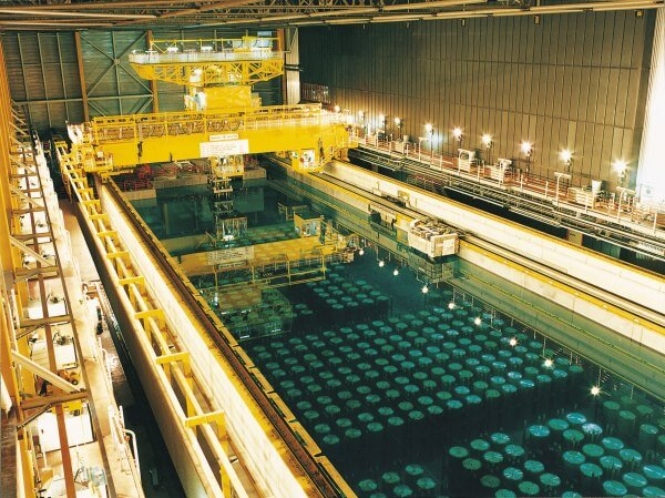 nuclear waste being stored at THORP processing plant