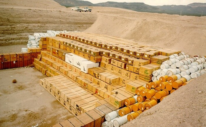 one of the most common nuclear waste disposal methods is to bury it in a landfill