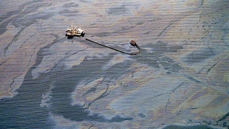 Exxon Valdez Oil Spill, Bligh Reef in Prince William Sound off the coast of Alaska