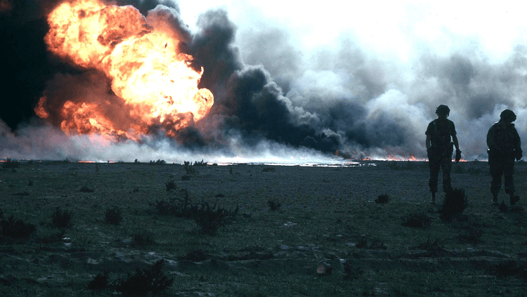 Kuwaiti Oil Fires, a result of the first Persian Gulf War in 1991