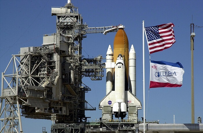 Columbia preparing for launch for STS-109