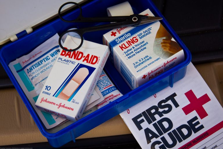 First aid kit for disaster preparedness