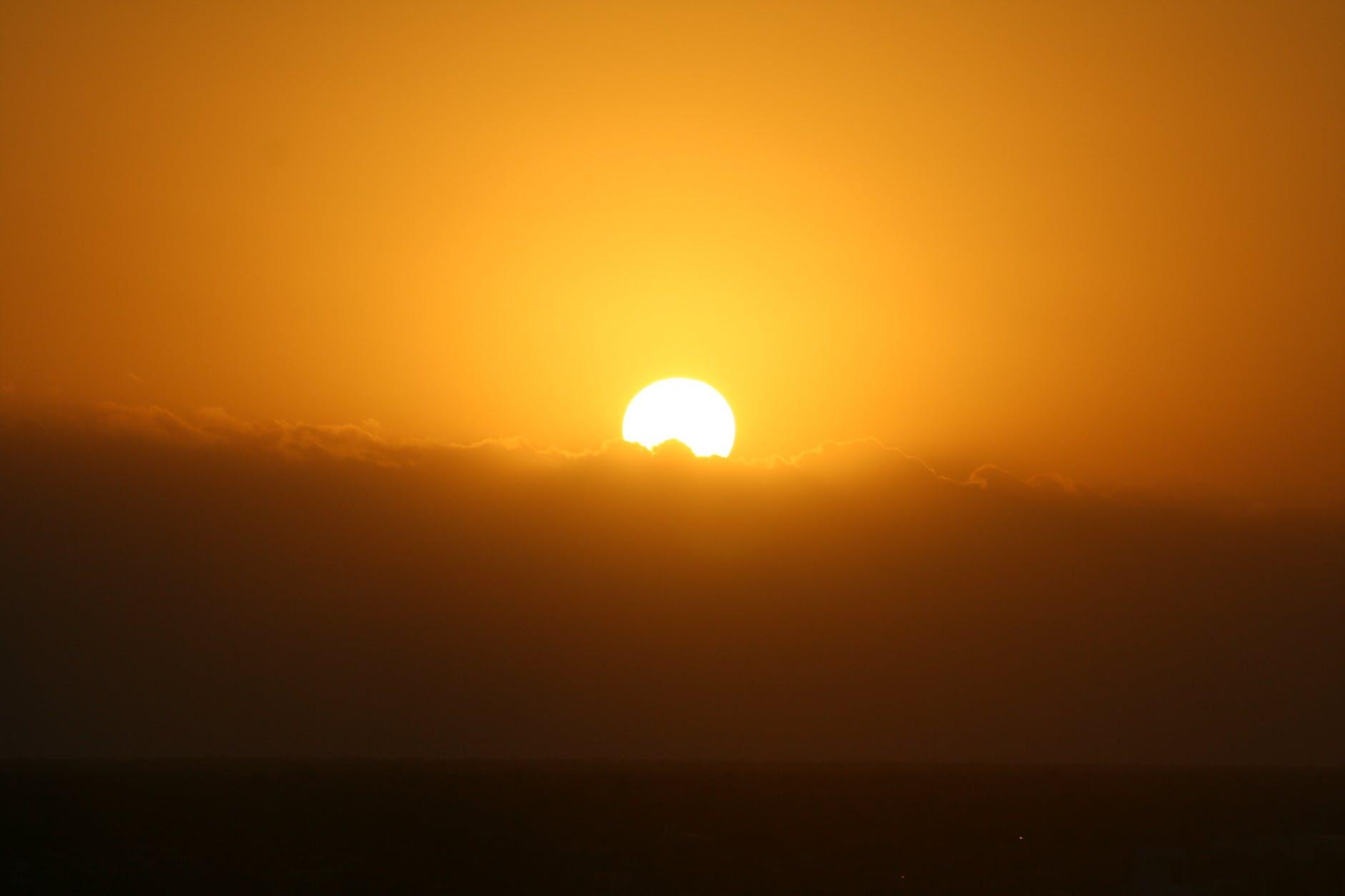 sun during excessive heat