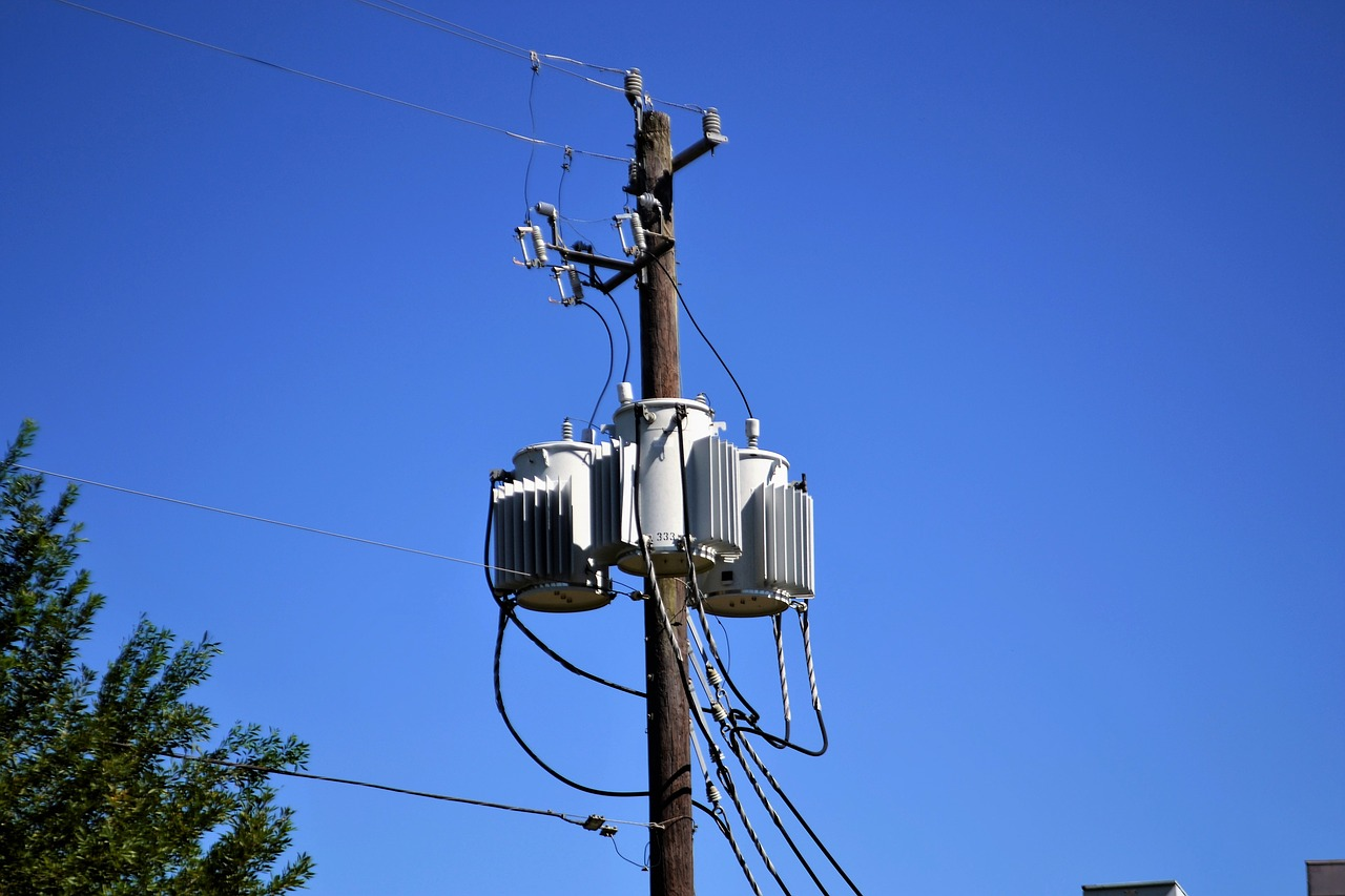 electricity converter at the post