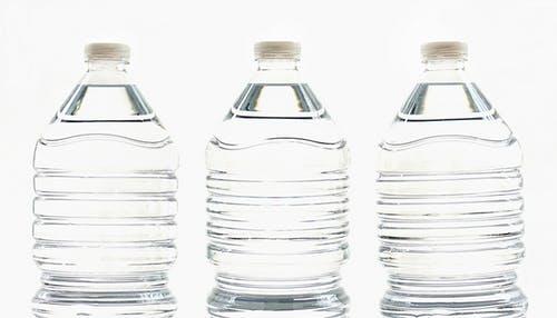 Tree clear plastic bottle